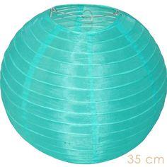 Turqoise nylon lampion buiten, Candlebagplaza