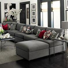 global modell malaga - ein äußerst variables und modernes ... - Wohnzimmer Grau Sofa
