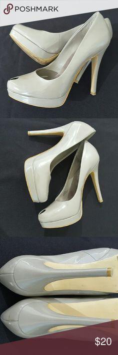 Jessica Simpson Gray Heels Amazing peep toe heels by Jessica Simpson. 5 inch heels. No flaws. Jessica Simpson Shoes Heels