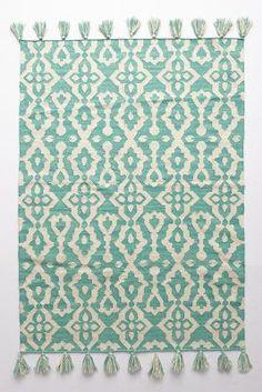 Chanda Rug | Anthropologie Flat Weave Rug | Mint Kilim Rug