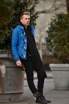 I'd never be blue in this coat...