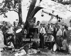 RONALD COLMAN Coleman RARE Film Shoot Photo CANDID Cynara FILM CREW Camera