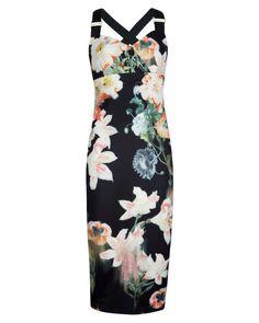 Opulent bloom print dress - Black | Dresses | Ted Baker #pinpoinTED