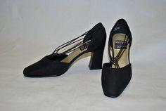 Vintage Black Mootsies Tootsies Heels Size 7.5  by swiemann, $22.00