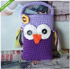 Wholesale Cute Owl Monkey Crochet Handmade Knit Cell Phone Bag Covers Crochet Coin Purse freeshiping, $2.83/Piece | DHgate