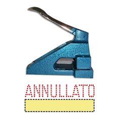 Acquista Online il tuo timbro perforatore con scritta ANNULLATO