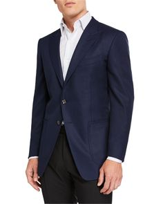Tom Ford Men's O'connor Pinpoint Melange Two-piece Suit In Black Neiman Marcus Store, Tom Ford Jacket, Tom Ford Men, Burberry Men, Gucci Men, Man O, Tweed Jacket, Blazer Jacket, College Fashion