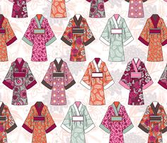 kimono fabric by cjldesigns on Spoonflower - custom fabric