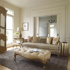 Deneuve Wood Carved Sofa - Max Sparrow specialises in luxurious & modern furniture for the home. Romantic Living Room, French Living Rooms, Caracole Furniture, Furniture Decor, Neoclassical Interior, Cosy Room, Luxury Decor, French Decor, Elegant Homes