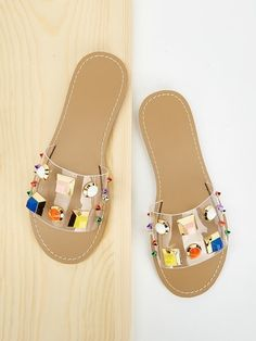 To find out about the Jewelled & Studded Decor Flat Sliders at SHEIN, part of our latest Slippers ready to shop online today! Flipagram, Shoes Sandals, Flats, Studded Heels, Beach Accessories, Toe Rings, Huaraches, Sliders, Valentine Day Gifts