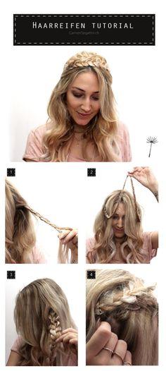 Haarreifen-Tutorial