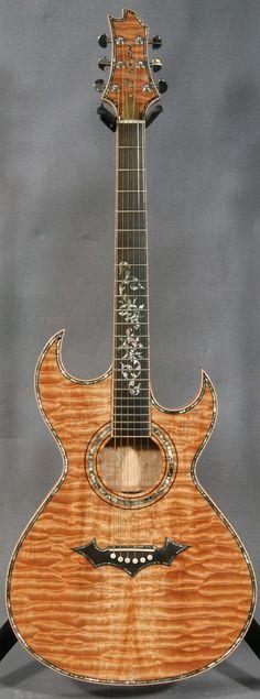 Roman Custom Acoustic Slim Double Cutaway Guitar