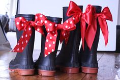 A Little Junk In My Trunk: DIY embellished Goodwill rain boots...  Walmart has super cheap black & brown boots for kids