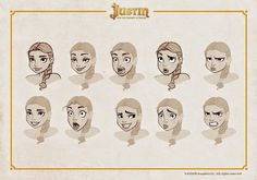 OSOKARO: JUSTIN AND THE KNIGHTS OF VALOUR V: TALÍA CHARACTER DESIGN