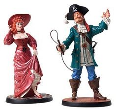 """Pirates of the Carribean Ride - Auctioneer & Redhead - """"We Wants the Redhead"""" Retired Edition 12/09$299"""