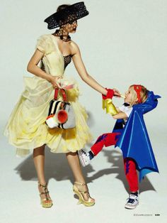 """The Terrier and Lobster: """"Mommy Dearest"""": Giedre Dukauskaite by Mark Pillai for Elle Italia April 2013 Fashion Shoot, Look Fashion, Editorial Fashion, Kids Fashion, Mommy And Me, Mom And Baby, Family Shoot, Mother Daughter Fashion, Mother Son"""