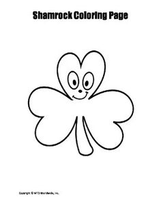 This printable shamrock coloring page provides an easy sponge activity for a related theme unit. Those searching for a pdf download to print and use immediately will find this resource helpful.