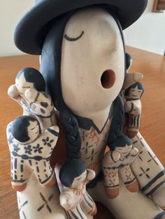 Vintage Cochiti Pueblo Pottery Storyteller Wearing by AlsBazaar