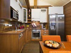 H3-155 Karhu 1192 #Ikihirsi финский деревянный дом #кухня