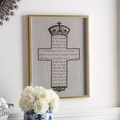 Zardosi Cross Wall Art - NEW