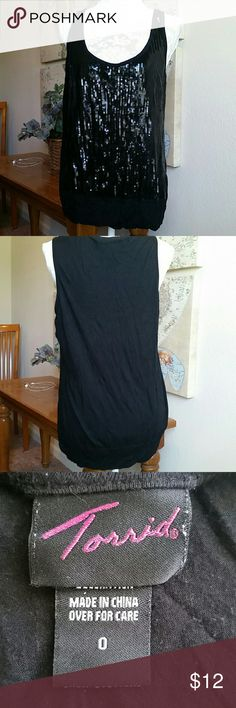 torrid sequined tank top torrid tank with sequins in front.  Banded at the bottom torrid Tops Tank Tops
