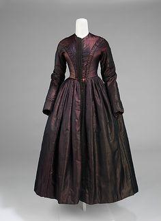 Evening Ensemble: Dress 1845, American, Made of silk