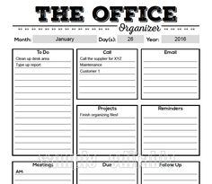 The Office Organizer 2 planner page work by FreshandOrganized Office Organization At Work, Planner Organization, The Office, Office Ideas, Office Decor, Lawn Care Business Cards, To Do Planner, Planner Ideas, Free Planner