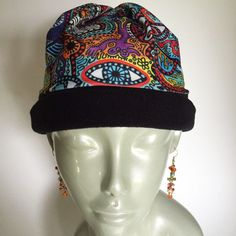 210c710d Graffiti Fabric, Fleece Lycra Hat, Beanie, Winter Sport Hat by ReignVermont  on Etsy