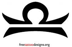 Libra symbol tattoo design