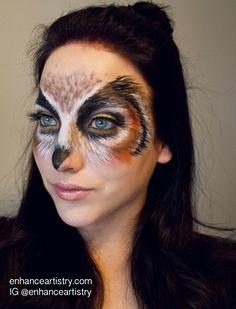 owl makeup - Google Search #Costumemakeup
