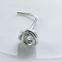Mini Tiny Rose Flower Spiral Nose Ring Silver Plated 22 Gauge on Etsy, $4.00
