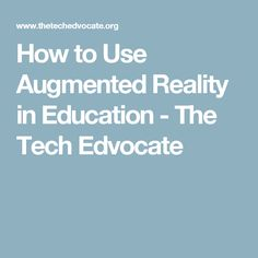 Pokémon Go did two things for society; introduced us to the capabilities of augmented reality (AR). Augmented Reality, Virtual Reality, Being Used, Tech, Student, Teaching, Education, Ideas, Onderwijs