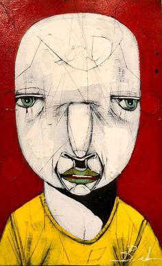 Experience #8 by Michael Banks Michael Banks, Atlanta Art, Outsider Art, Black Art, Contemporary Artists, Painting On Wood, Art Museum, Framed Art, Folk Art