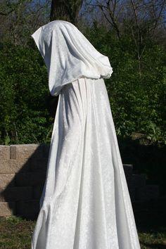 Cloak Cape Renaissance Elven Gothic Bridal White by SewFormal, $45.00