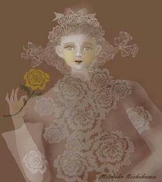 One flower By Michiko Nishikawa