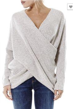 Naomi Drape Front Sweater - Oatmeal