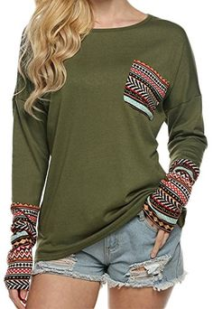POGT Women's Fashion Long Sleeve Casual Loose Pullover Bl... https://www.amazon.com/dp/B01JBYXUQ6/ref=cm_sw_r_pi_dp_x_73ISybCYE4MZA