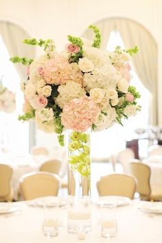 Beautiful Tall Wedding Centerpiece - Belle The Magazine