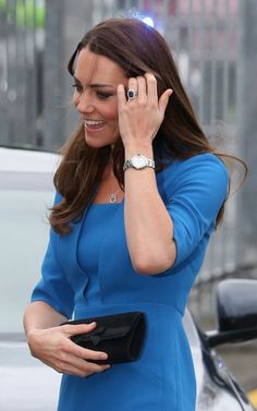 Kate Middleton with a Cartier watch.