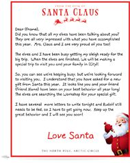"""You can buy """"Letters From Santa"""" they come in an official looking letter and not in your hand writing! I'm going to get it this year because my daughter caught on last year. Christmas Letter From Santa, Christmas Town, Santa Letter, Christmas Ornaments, Personalized Letters From Santa, Official Letter, Santa's Nice List, How To Make Toys, Face Light"""
