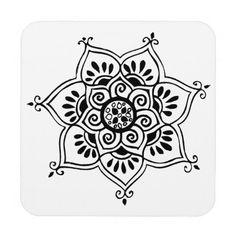 loto mandala blanco y negro - Buscar con Google