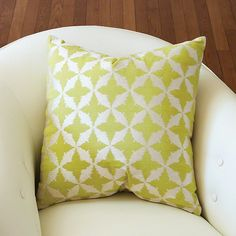 Global Views Solitaire Pillow-Green - Global Views 9-92023