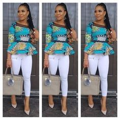 Which of this Ankara outfit do you prefer A. promised I was gonna show you how to Rock This peplum skirt and blouse oya make your choice 😁😁 for serious clients plz cc 😙😙 African Fashion Ankara, Latest African Fashion Dresses, African Dresses For Women, African Print Dresses, African Print Fashion, African Attire, African Wear, African Women, Ankara Blouse