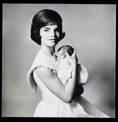 First Lady Jacqueline Kennedy with son John Fitzgerald Kennedy Jr. Photographed by Richard Avedon, 1961
