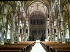 This is the interior of St. Paul Roman Catholic Cathedral in the Oakland neighborhood of Pittsburgh. Catholic School, Pittsburgh Pa, Roman Catholic, Cathedrals, Real Life, The Neighbourhood, Saints, Indoor, Interior