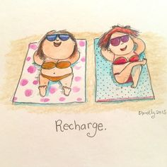 Today's Doodle: you deserve it - Recharge.