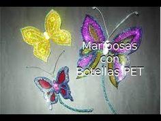 Reciclaje de Botellas Plásticas PET, Manualidades: Mariposas