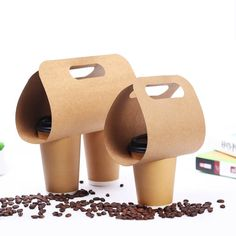 Disposable Kraft Paper Cup Base Handle Holder Eco Friendly Coffee Milk Tea Cup T… Disposable Kraft Paper Cup Base Handle Holder Eco Friendly Coffee Milk Tea Cup Tray Takeaway Drink Packaging Packaging Carton, Takeaway Packaging, Sugar Packaging, Candy Packaging, Food Packaging Design, Beverage Packaging, Coffee Packaging, Cosmetic Packaging, Coffee Shop Logo