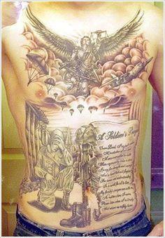 Patriotic Military Tattoo Designs
