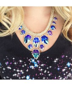Gretchen Statement Necklace in Iridescent Cobalt - Kendra Scott Jewelry. Coming October 15!